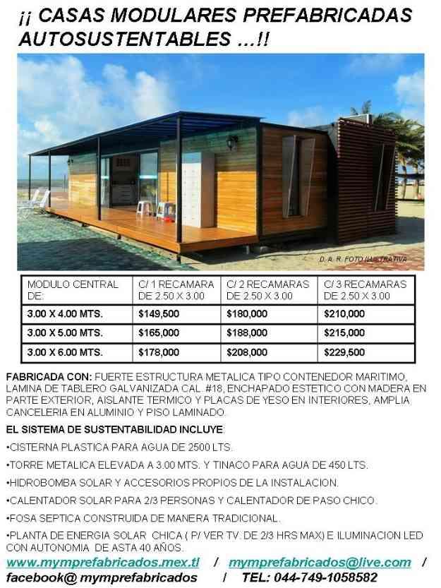 Casas prefabricadas autosustentables super econ micas - Casa prefabricadas economicas ...
