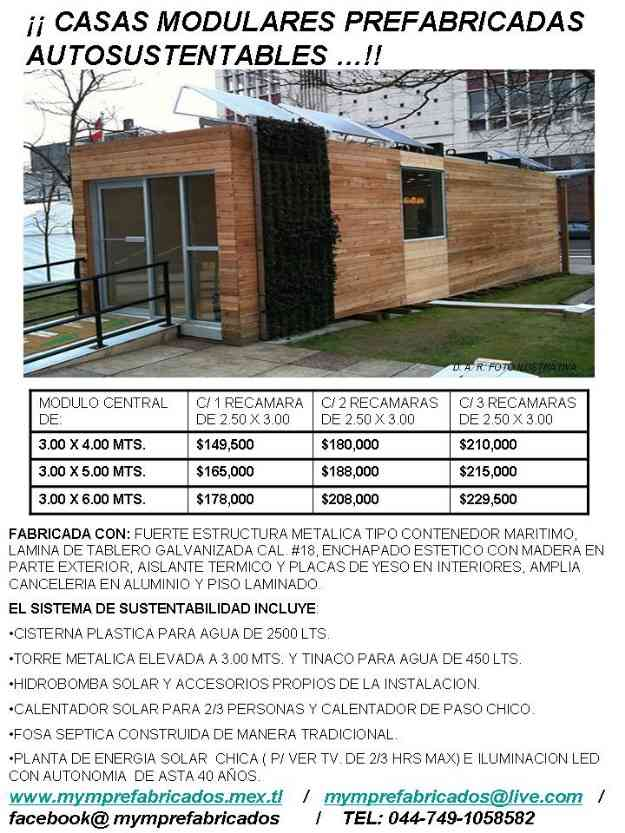 Casas prefabricadas autosustentables super economicas - Casa prefabricadas economicas ...