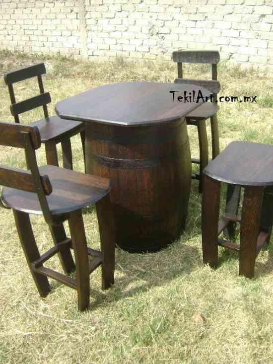 Fotos de Muebles rústicos hechos con barril de roble  Guadalajara