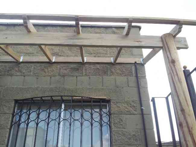 Techos domos proteciones y estructuras de metal y madera puebla capital granjas san isidro - Estructuras de madera para techos ...