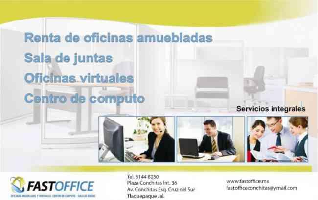 Oficinas amuebladas y virtuales tlaquepaque lomas de la for Renta oficinas virtuales