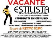 Estilista - estudiante - vacante
