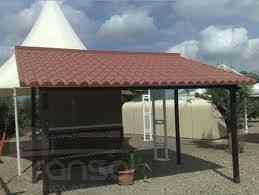 Venta de toldos de estructura de acero y techos de acero for Toldos para estacionamiento