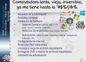 Servicios de reparación, configuración y actualizacion de computadoras