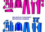 Moldes de ropa deportivos sudadera y pantalon
