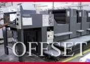 Vendedor prensa plana offset con cartera de clientes