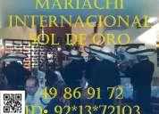 Mariachis por el rumbo de iztacalco 49869172 urgentes 24 horas distrito federal