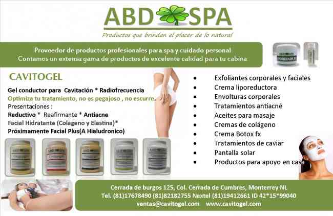 Productos profesionales para spa y cl nica de belleza abd - Articulos para spa ...
