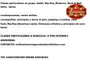 Clases de  jazz hip hop  danza y clases de baile de salon a domicilio