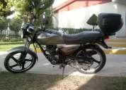 Vendo motocicleta italika ft-125, 2012, color gris-negro, excelentes condiciones