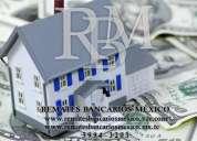 Se rematan casas departamentos o inmuebles adjudicados en el distrito federal y zona metropolitana