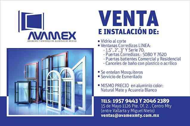 Puertas y ventanas y canceles de aluminio monterrey for Ventanas de aluminio de segunda mano