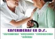 Enfermeras, auxiliares, cuidadoras y niñeras profesionales