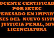 Docente certificado por setec xalapa