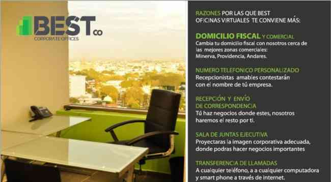 Renta de oficina virtual con domicilio fiscal en for Alquiler oficina virtual