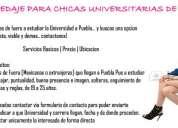 Hosting para chicas universitarias mexicanas y extranjeras en puebla