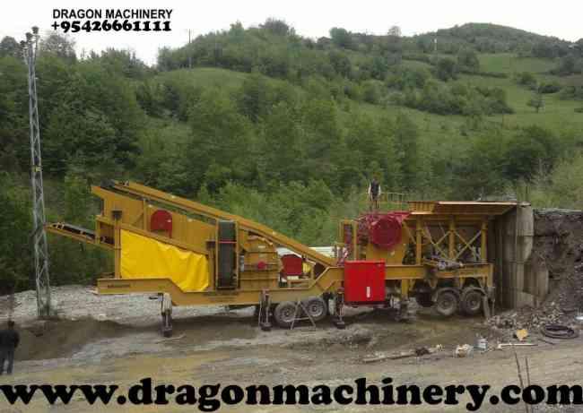 Móvil de trituración y cribado de plantas utilizan trituradoras Dragón