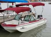 Lancha deportiva motor johnson 70 hp