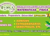Cursos de regularizacion matematicas, fisica y quimica
