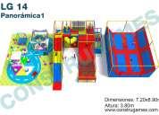 Juegos infantiles para salon de fiestas o plaza  con jump park