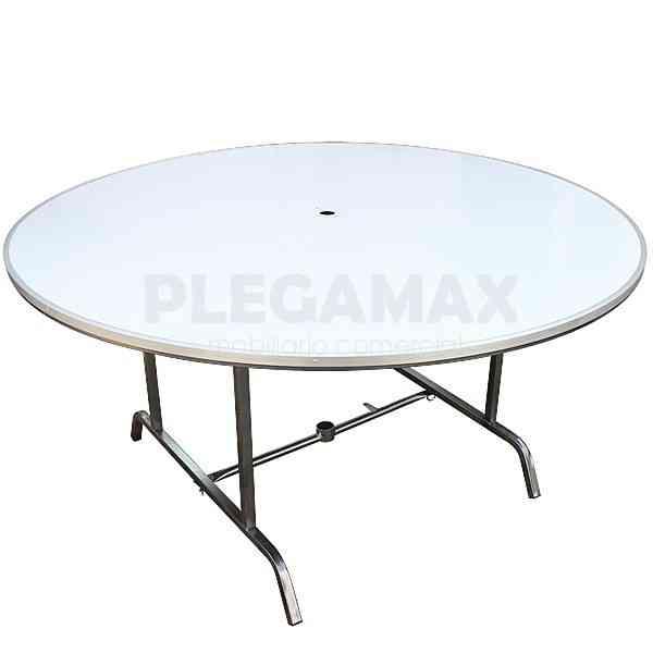 Venta de mesas redondas plegables para jardin campeche for Mesas de jardin plegables