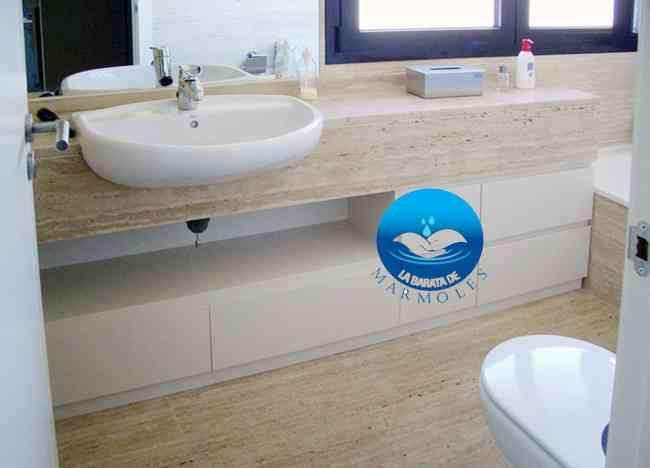 Mueble ba o lavabo minimalista onix m rmol oferta coyoac n doplim 196462 - Banos con marmol travertino ...
