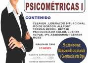 curso - taller de pruebas psicométricas