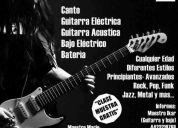 Clases de guitarra, bajo, canto y bateria