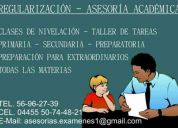 Regularización / preparación de extraordinarios / clases de nivelación