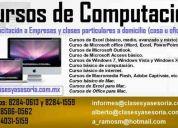 clases y cursos particulares de computación a domicilio (casa u oficina)