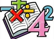 Clases de matemÁticas y fÍsica a domicilio (recomendado)