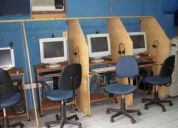 Empleada de cibercafe y centro de servico