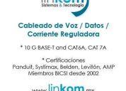 Cableado de voz / datos/ corriente reguladora ,fibra optica