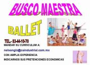 contratacion maestra ballet
