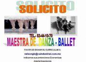 Solicito maestra de danza - ballet