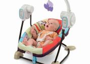 silla mecedora musical portatil luv u zoo bebe fisher price