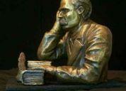 Friedrich nietzsche escultura en bronce