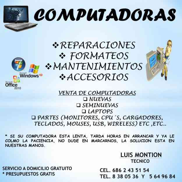 Reparaciones pc s mexicali computadoras inform tica for Jardin xochimilco mexicali