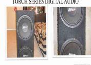 Vendo   par de bocina 12  con su  cajon   torch  series digital audio  todo sellado