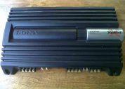 Amplificador sony xplod 600w 4 canales seminuevo