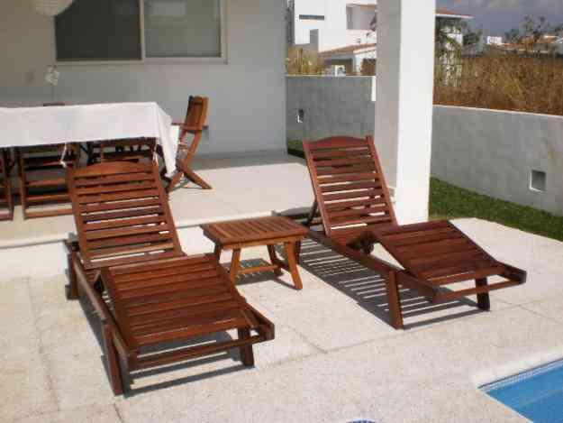 Camastros sombrillas playa terraza o jardin texcoco for Camastros de hierro para jardin