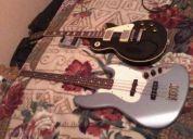 Fender jazz bass y epiphone les paul standard negra!!!