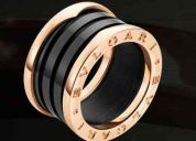 anillo bvlgari b-zero ceramica negro y blanco
