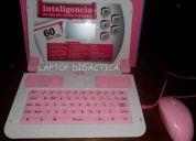 Laptop de juguete didactica ingles-espaÑol de 60 funciones