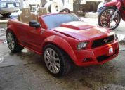 Carro electrico montable mustang rojo, power wheels