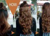 Extensiones de excelente calidad con clip cabello sintetico unicamente en color negro