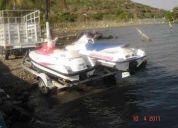 Dos motos acuaticas bombardier 99 y yamaha 92 con remolque