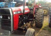 Tractor massey ferguson 285, remolque raslado de caballos