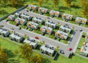 Privada con 44 casas y tienen terreno de 150m2, bien ubicado