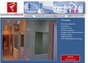 Landmark world, renta, oficina santa fe, 64m2, 3 privados